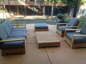 leveb grade  teak wood  pc outdoor garden patio sofa