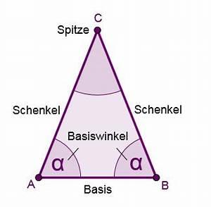 Seitenhalbierende Dreieck Berechnen Vektoren : gleichschenkliges dreieck mathe artikel ~ Themetempest.com Abrechnung