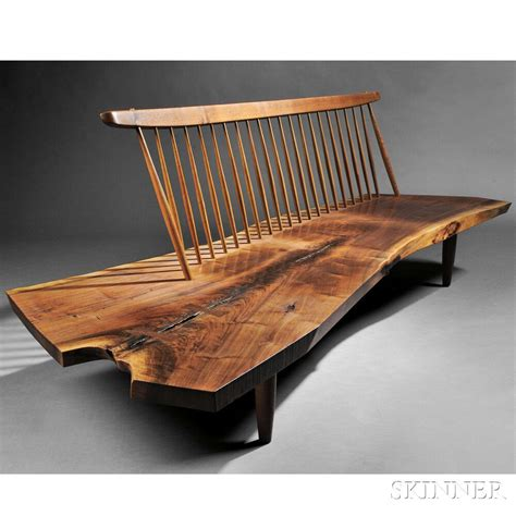 George Nakashima (19051990) Conoid Bench  Sale Number