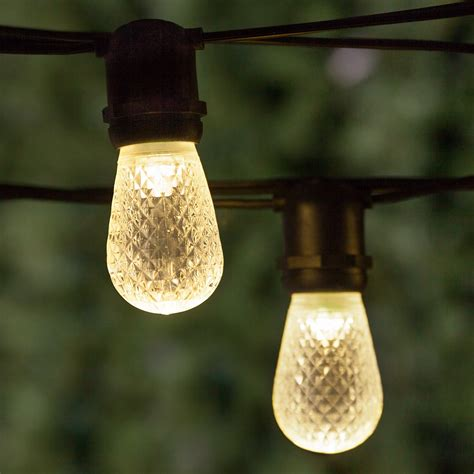 Led Outdoor String Lights by Patio Lights Commercial Warm White Led Patio String