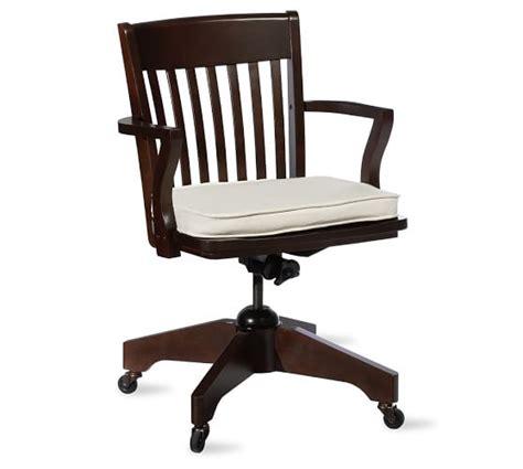 desk chair cushion swivel desk chair pottery barn