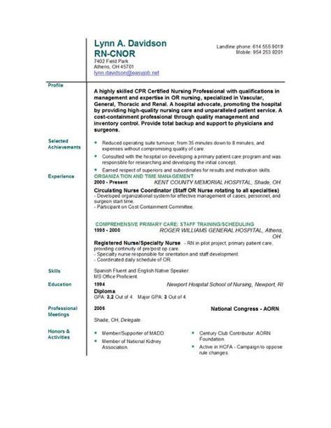 nursing resume builder  resume gallery resume