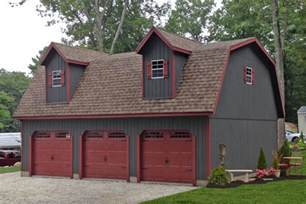 amish built 2 story double wide sheds and modular garages