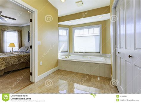 floor master bedroom bathroom with shiny tile floor in master bedroom stock photo image 42988741