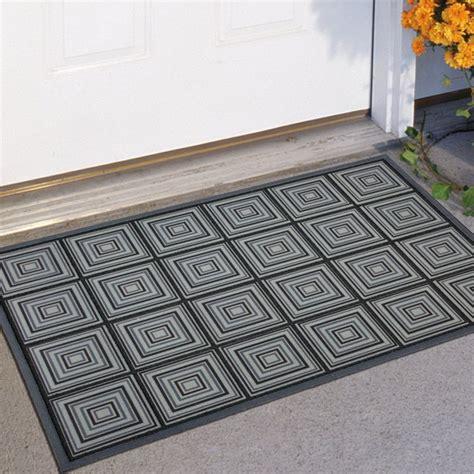 modern doormats mohawk industries square blue 23 x 35 doormat