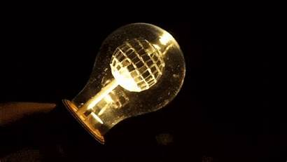 Ball Disco Lamp Inside Spinning Lightbulb Bulb
