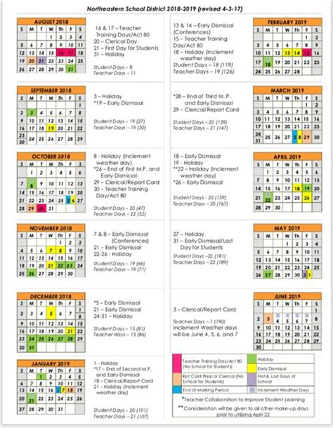 district calendar calendar overview