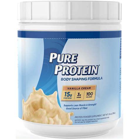 Amazoncom Pure Protein Natural Whey Protein, Vanilla