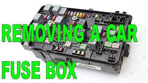 Diy Removing Car Fuse Box From The Engine Compartment