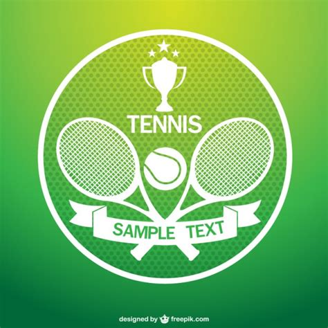 tennis logo  rackets vector