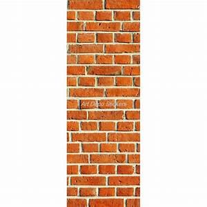 Mur Trompe L Oeil : affiche poster pour porte trompe l 39 oeil mur de briques stickers autocollants ~ Melissatoandfro.com Idées de Décoration