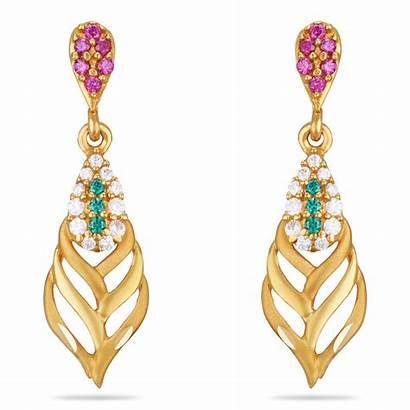Earrings Gold Gram Designs Regular Stone Grams