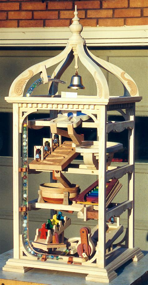 bell tower marble machine woodworking plan forest street