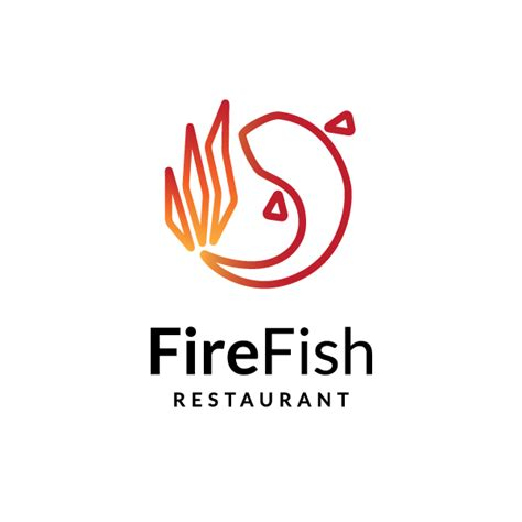 sale fire fish logo design logo cowboy