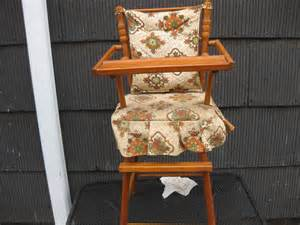 vintage cass toys wooden doll high chair antique toy old
