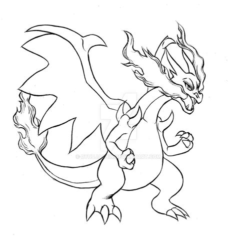 Pokemon Coloring Pages Charizard Printable Free Coloring