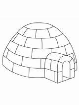 Igloo Coloring Winter Preschool Printable Craft Pages Yahoo Jumbo Crafts Colouring Built Letter Penguin Template Animals Templates Info Drawing Pole sketch template