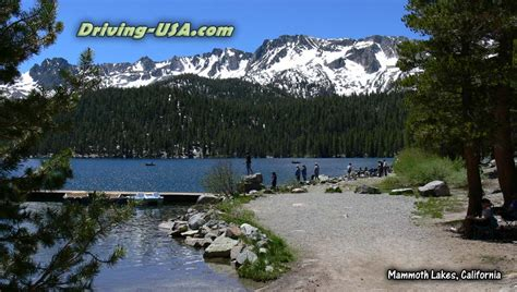 california mammoth lakes usa fishing canyon driving