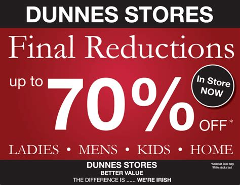 DUNNES STORES: Final Reductions