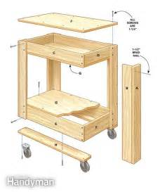 rolling kitchen island table rolling tool box cart plans the family handyman