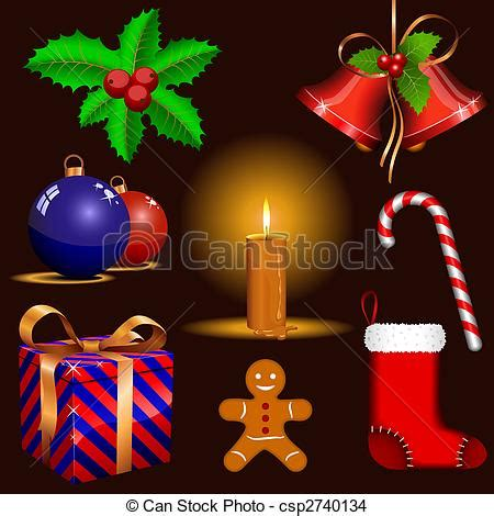 traditional christmas clip set eps vector of traditional christmas symbols vector set of traditional csp2740134 search