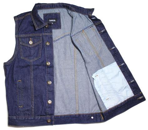 motorcycle jacket vest vest dk blue denim jean biker motorcycle jacket sleeveless