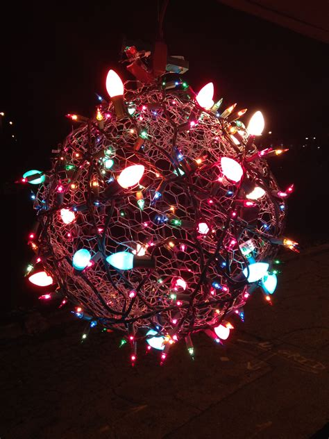 chicken wire christmas lights hanging light made from a chicken wire sphere wrapped in lights lighting