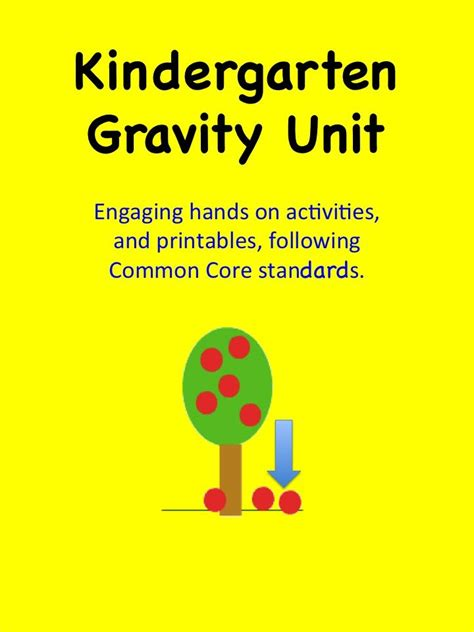 gravity unit with lesson plans printables and on 805 | b63b21232aad26884d913dd424ba97aa