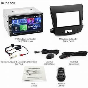 Car Dvd Player Usb Stereo Radio For Mitsubishi Outlander Gs Facia Fascia Kit Kt