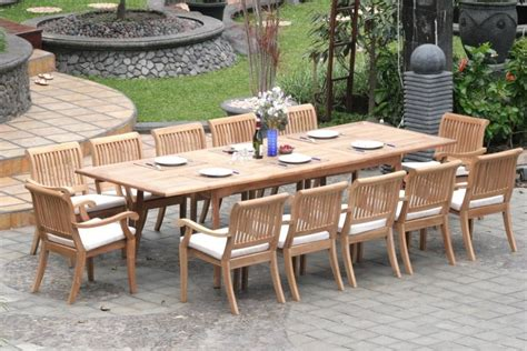 teak outdoor dining table design teak outdoor dining
