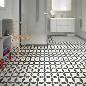 carrelage sol et mur noir blanc effet ciment dement l20 x With idee de terrasse exterieur 3 idee deco entree noir et blanc