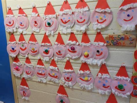 early years craft ideas painted santa display classroom display class display 4292