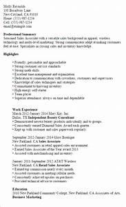 Beautiful Sales Associate Resume Examples Resume Retail Sales - Sample resume for cosmetic retail sales