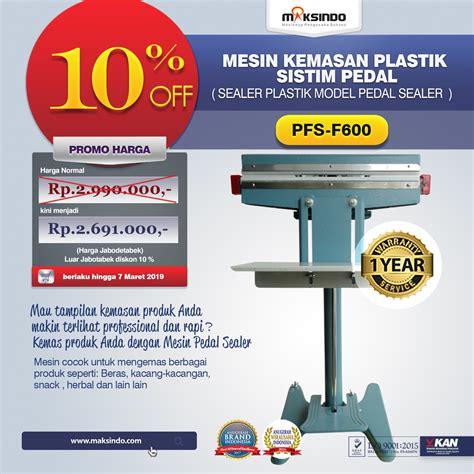 jual pedal sealing machine pfs f600 di palembang toko