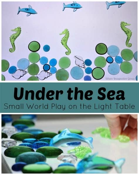 the sea small world play on the light table play 407 | a9400bebd47d0ed4b04cb0196b7b15f3