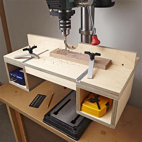 drill press table woodworking plan  wood