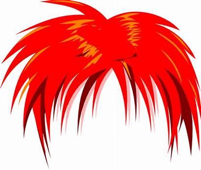 Hair Anime Clipart Wig Clip Vector Cliparts