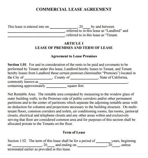 modele bail commercial gratuit 6 free commercial lease agreement templates excel pdf