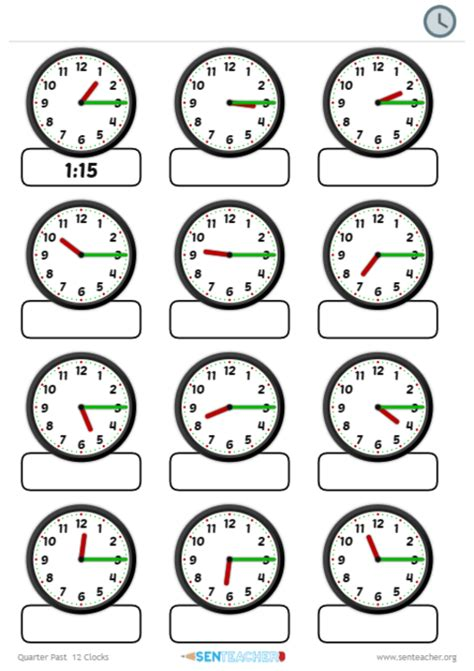 time worksheets sen sen clocks telling time printable worksheet
