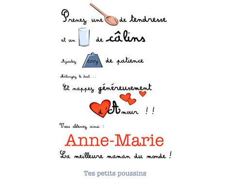 poeme cuisine tablier poème pour maman