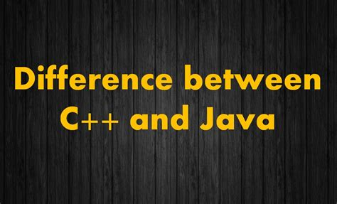 differences between template class and template class class c difference between c and java the crazy programmer