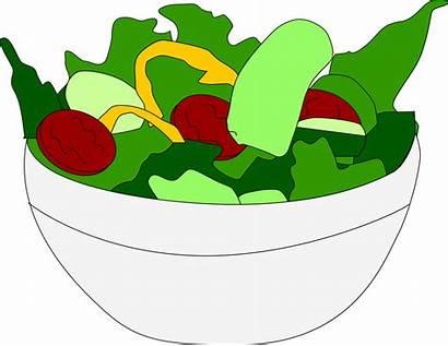 Salad Clipart Clip Vegetable Bowl Salads Transparent