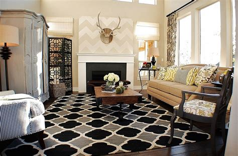 Chevron Pattern Ideas For Living Rooms