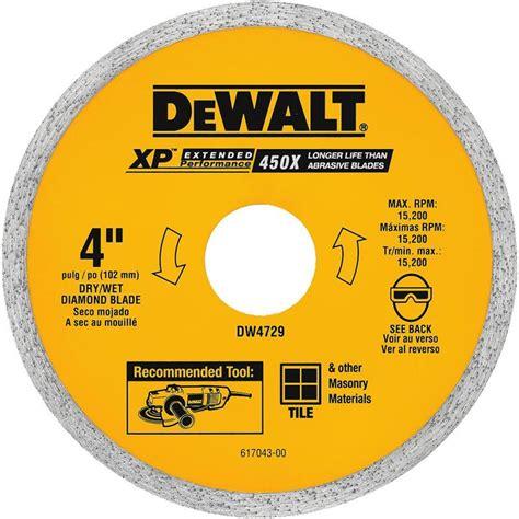 dewalt tile cutter blade dewalt dw4729 ceramic tile blade 4 quot