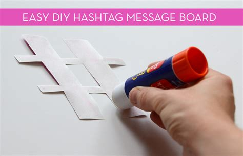 easy hashtag message board curbly diy