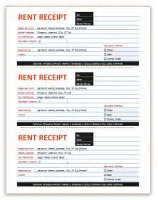 Apartment Rent Receipt Template