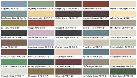 behr exterior paint colors chart collection
