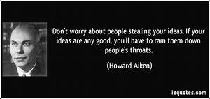 Stealing Ideas Quotes. QuotesGram