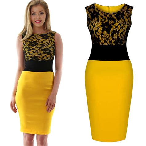 robe jaune et noir yellow and black dresses cocktail dresses 2016