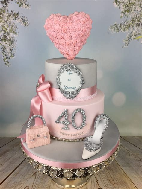 engagementbirthday cake  silver  pink mels amazing cakes
